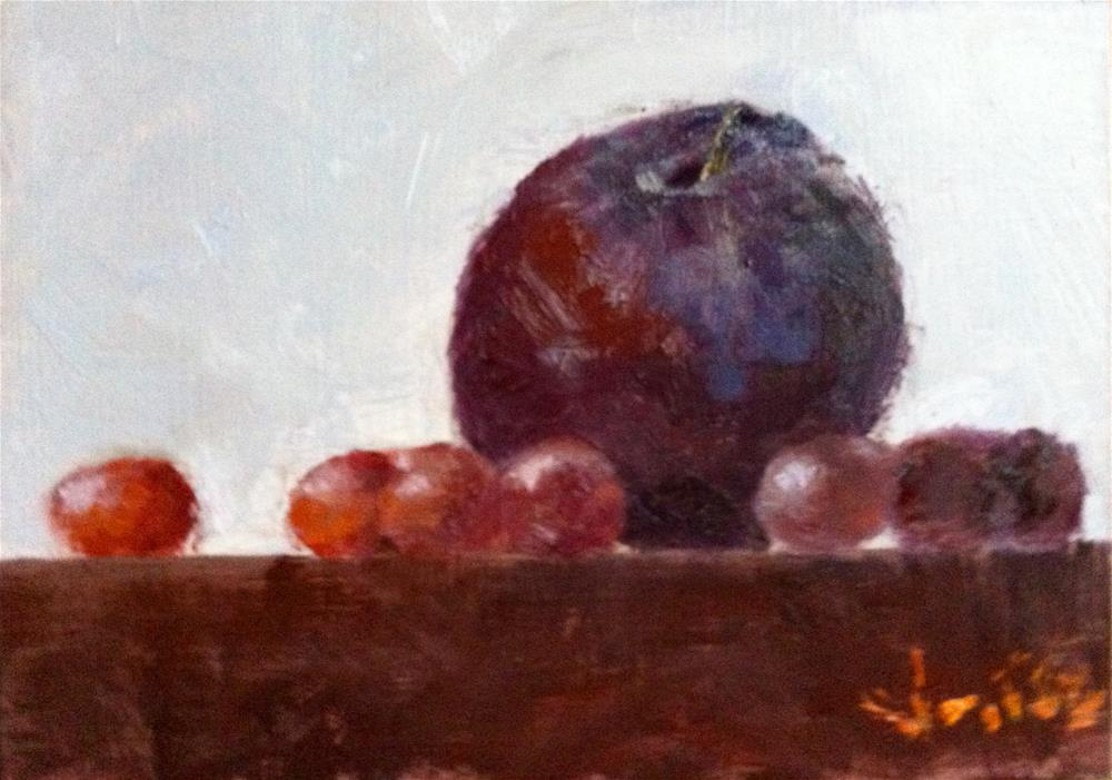 """Plum"" original fine art by Richard Jones"