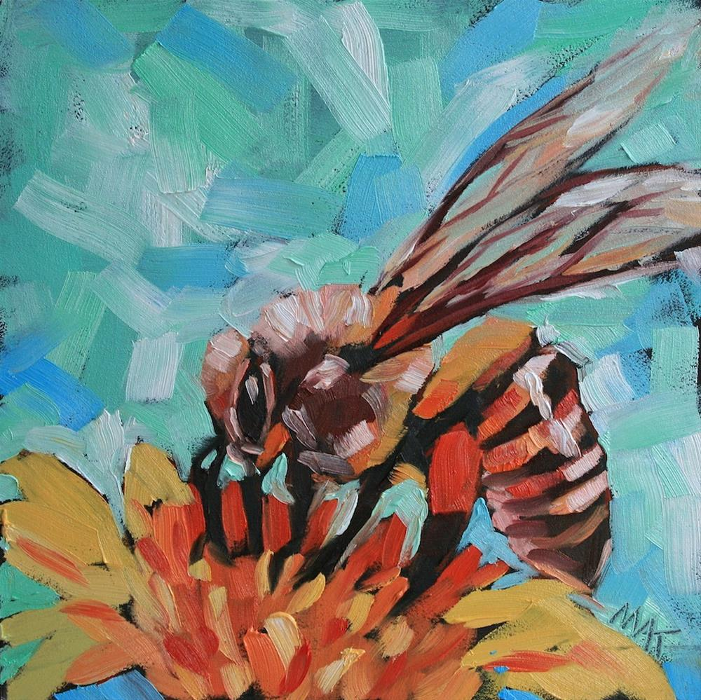 """Bee Sweet"" original fine art by Mary Anne Cary"