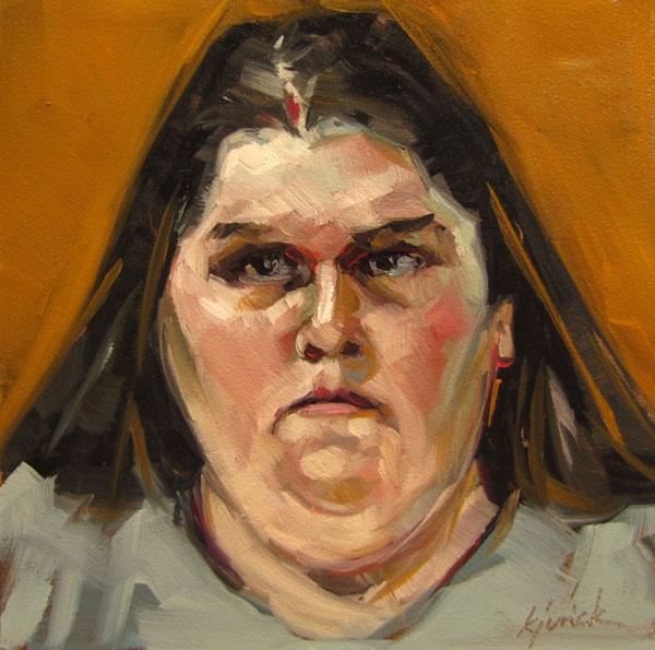 """100 Faces, No. 16"" original fine art by Karin Jurick"