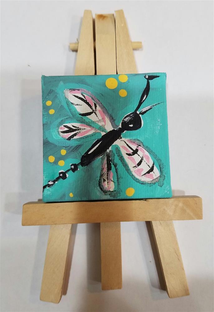 """""""Itty Bitty Dragonfly #652"""" original fine art by Terri Einer"""
