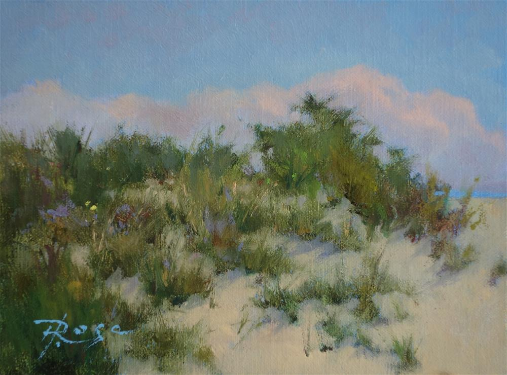 """Beach 3 / 4 PM"" original fine art by Howard Rose"