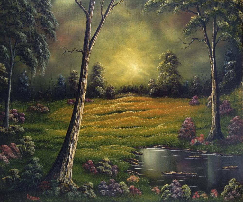 """Forest Light"" original fine art by Ken Fraser"