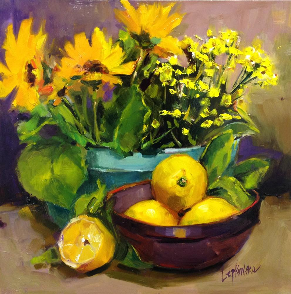 """Study in Yellow"" original fine art by Laurie Johnson Lepkowska"