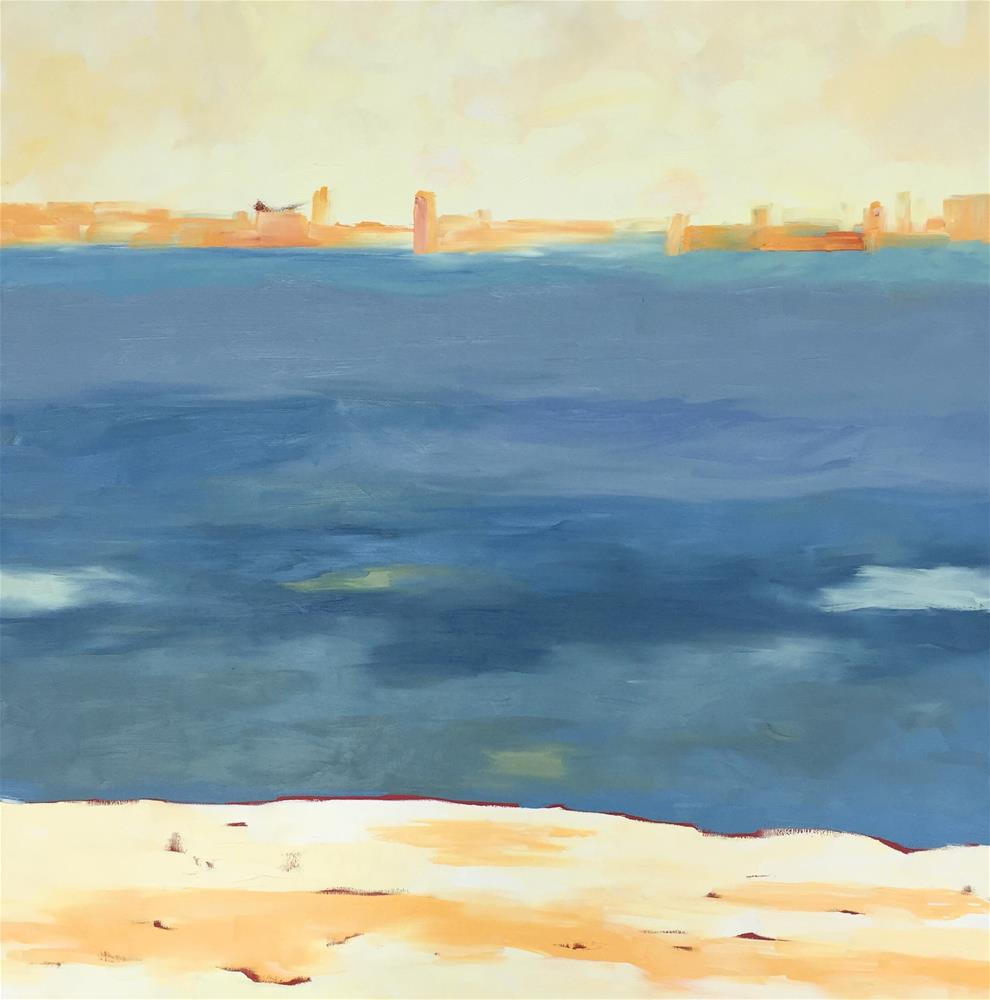 """City By The Bay"" original fine art by Janet Bludau"