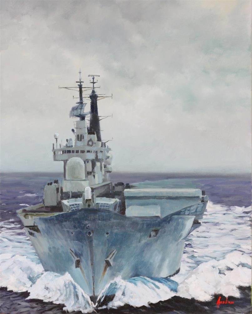 """Ark Royal"" original fine art by Graham Townsend"