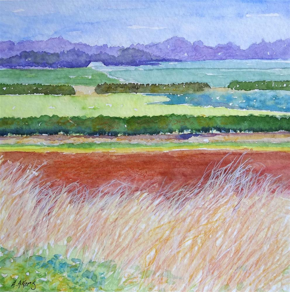 """""""Ready for Planting Mixed Media on Paper"""" original fine art by Alida Akers"""