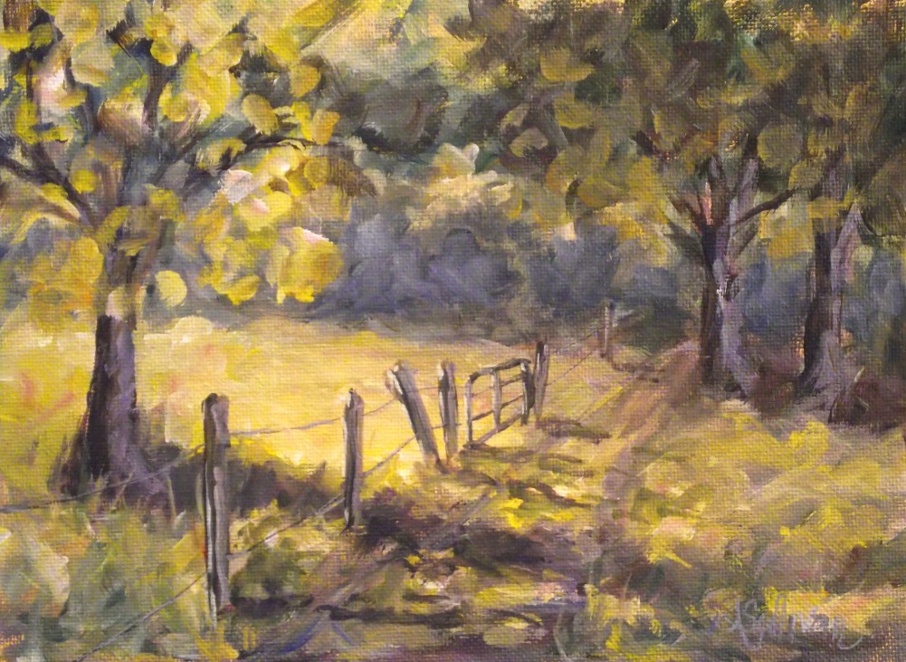 """The Long Road Home"" original fine art by Angela Sullivan"