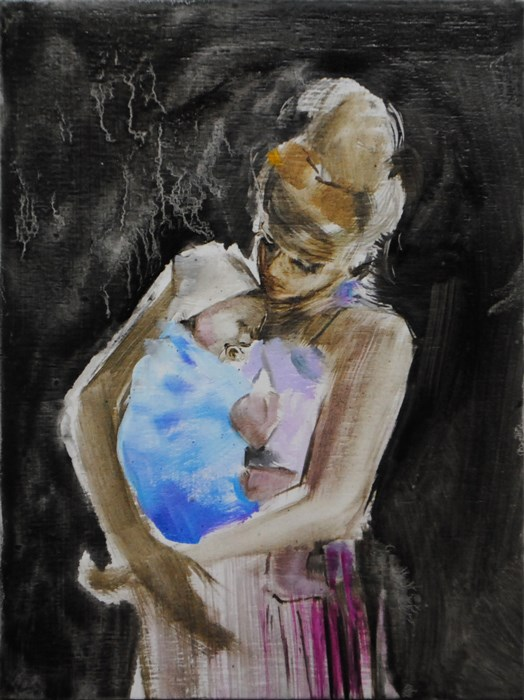 """Mother"" original fine art by Eszter Szicso"