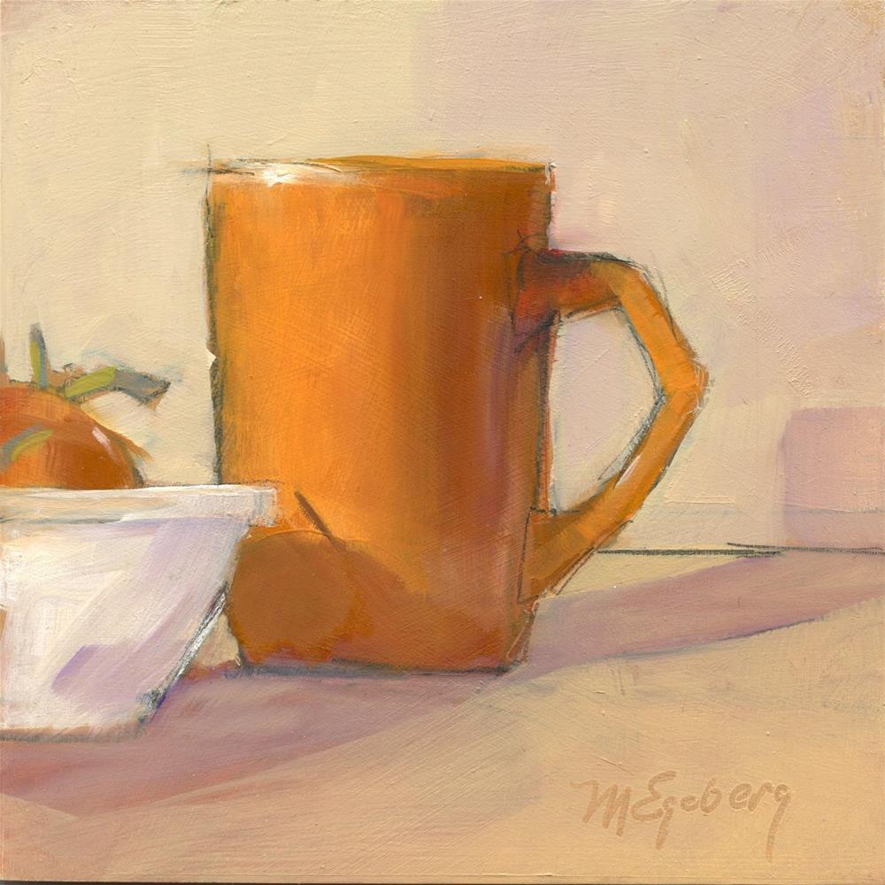 """Orange Cup, Tomato"" original fine art by Mitch Egeberg"