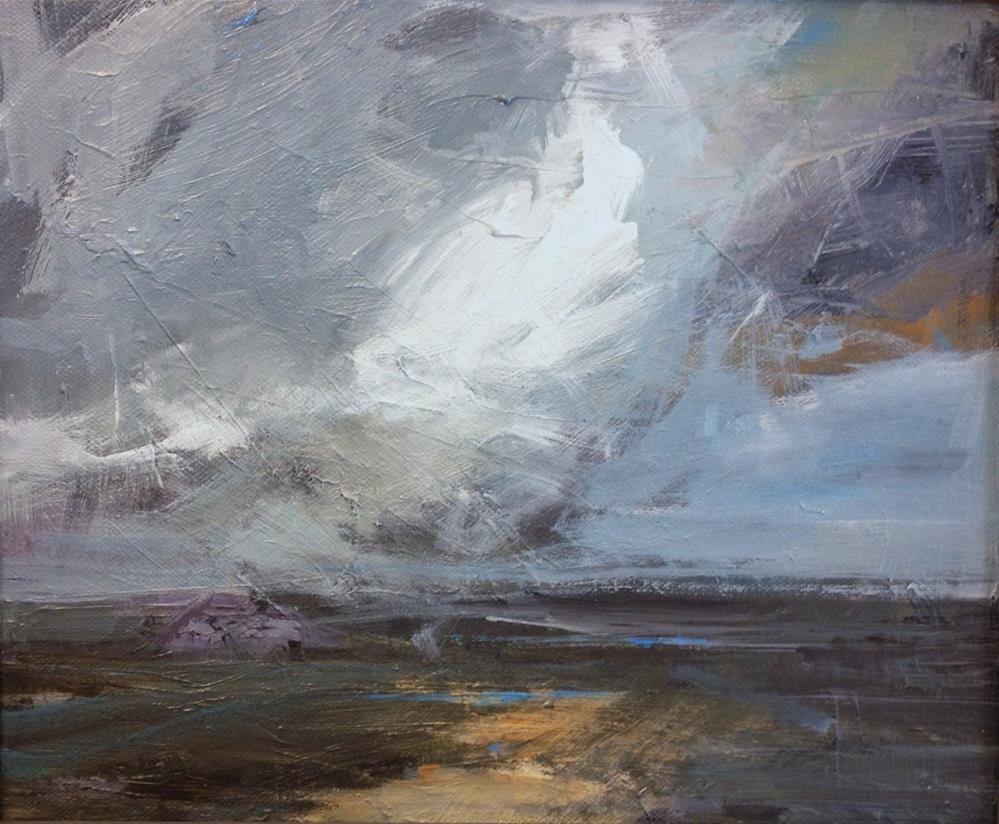"""White clouds"" original fine art by Parastoo Ganjei"