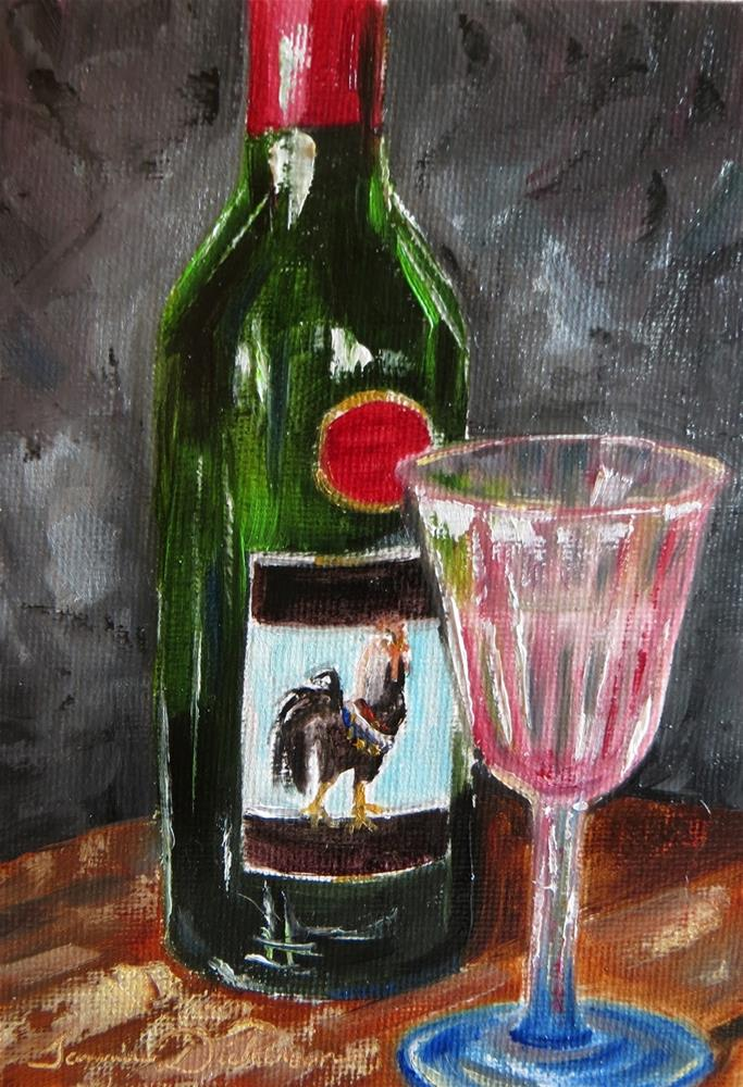"""Rex and a Glass"" original fine art by Tammie Dickerson"