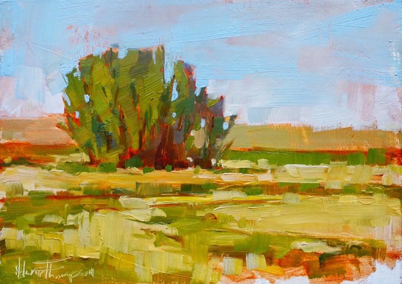 """Clustered Elms"" original fine art by Melanie Thompson"