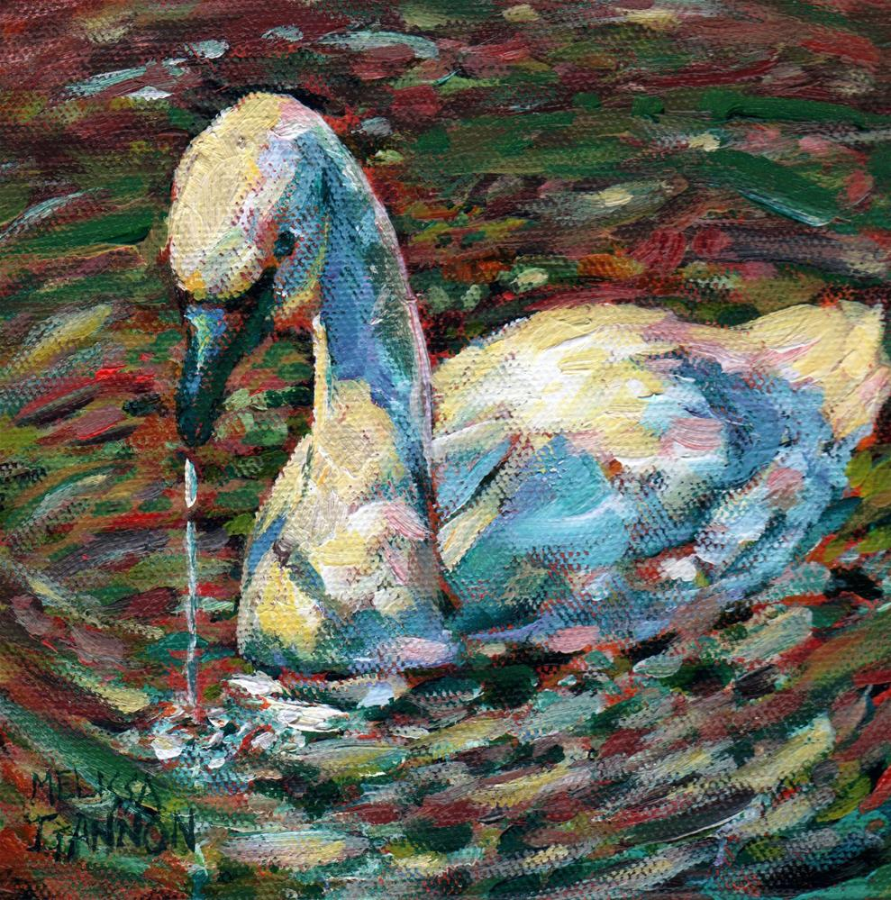 """Swan Moment"" original fine art by Melissa Gannon"