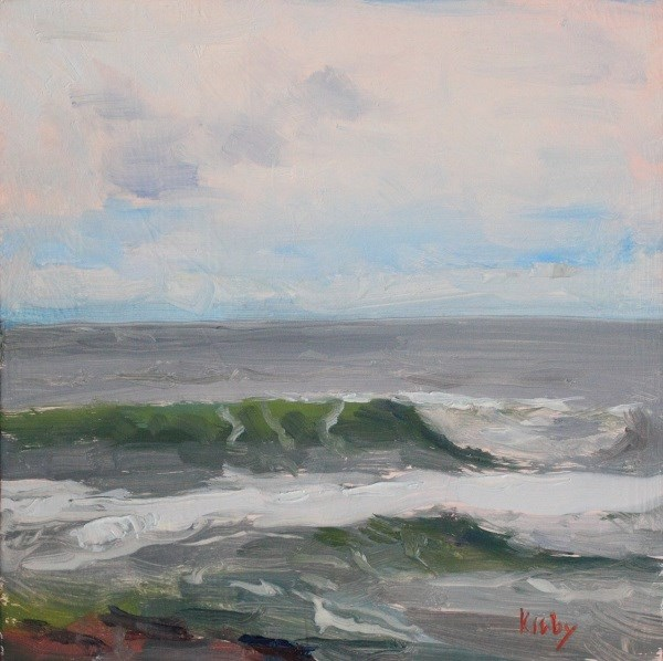 """Misty Sea"" original fine art by Randall Cogburn"
