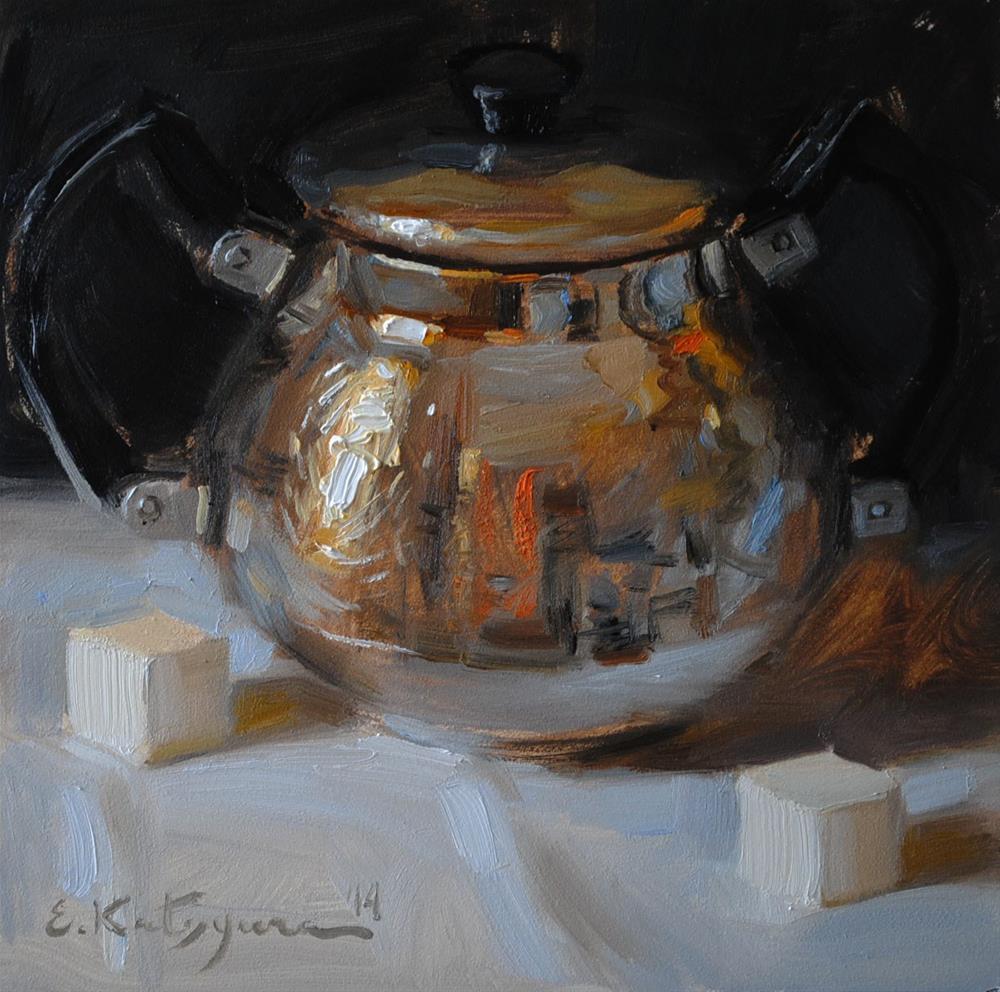 """Regal Bowl"" original fine art by Elena Katsyura"