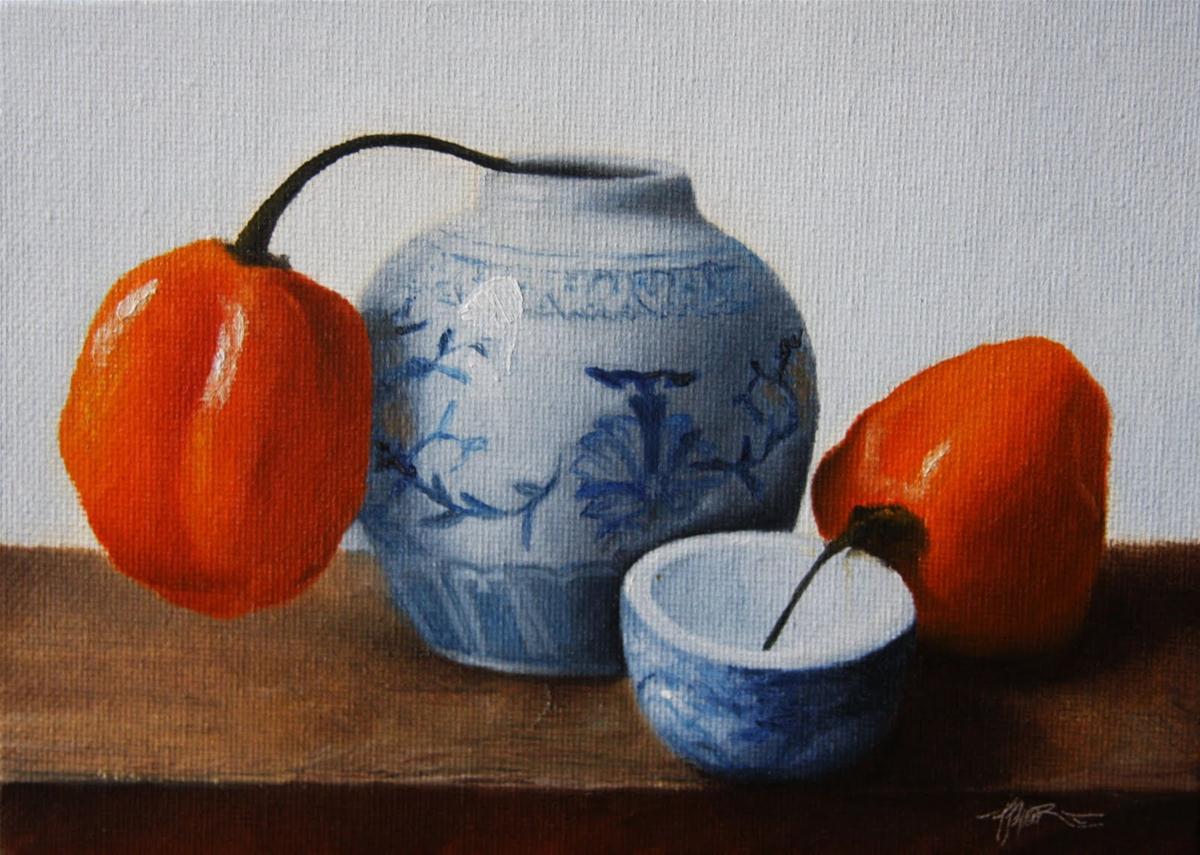 """Hanging on"" original fine art by Jonathan Aller"
