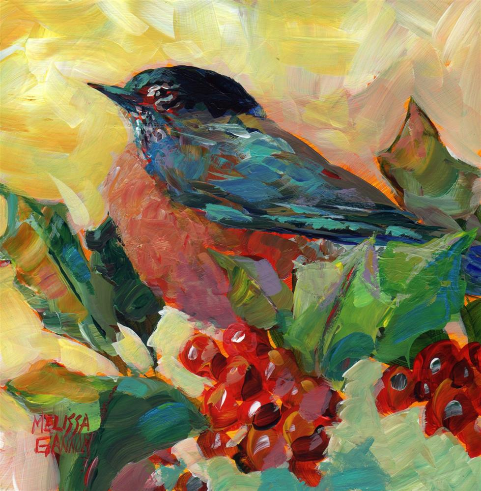 """Robin Red Breast"" original fine art by Melissa Gannon"