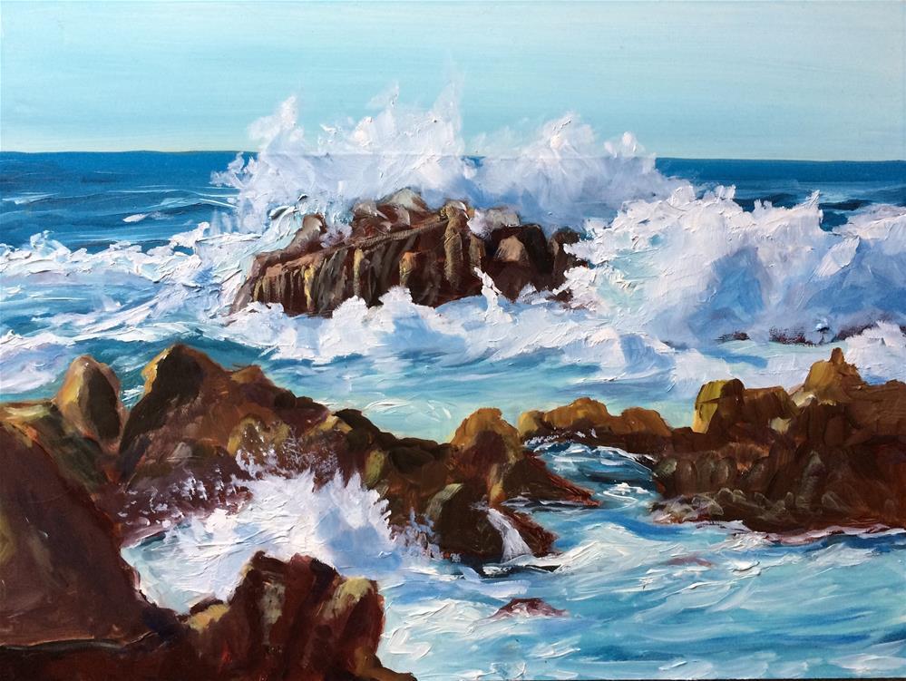 """""""Rocky Shore"""" original fine art by Kim Clay"""