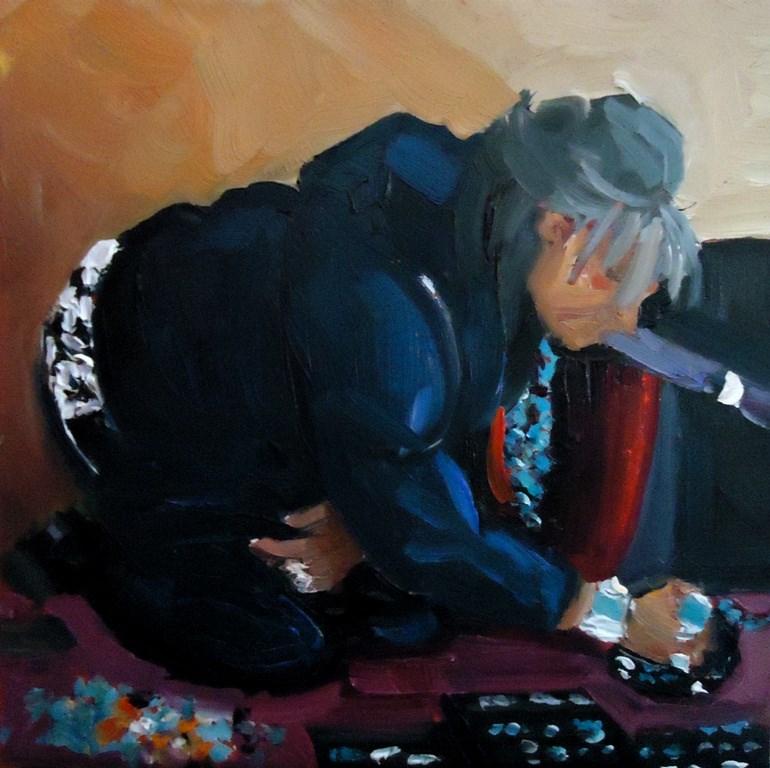 """113 JEWELRY WOMEN, OLD TOWN"" original fine art by Dee Sanchez"