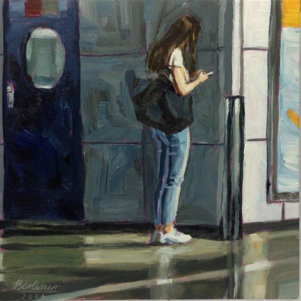"""""""064 Die blaue Tür"""" original fine art by Anja Berliner"""