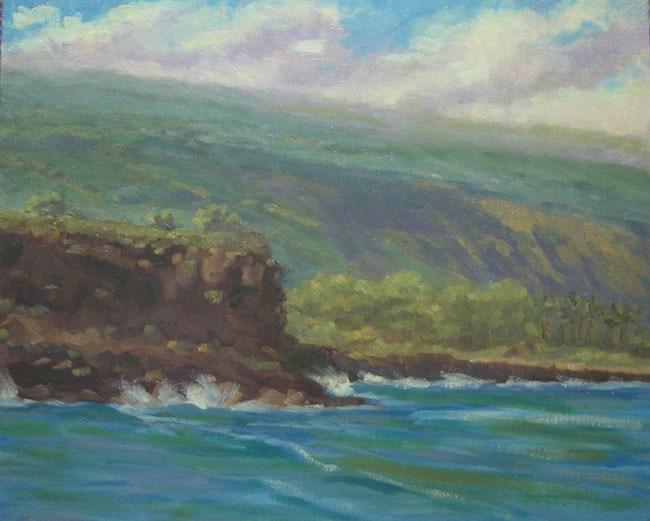 """""""Ho'okena Beach View"""" original fine art by Stan Chraminski"""