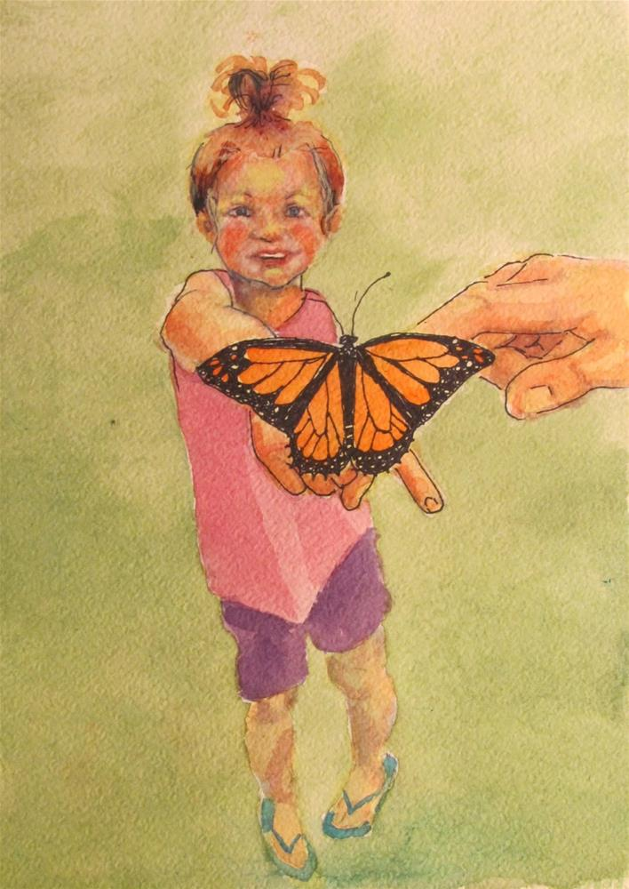 """Monarch#15"" original fine art by Christine Holzschuh"