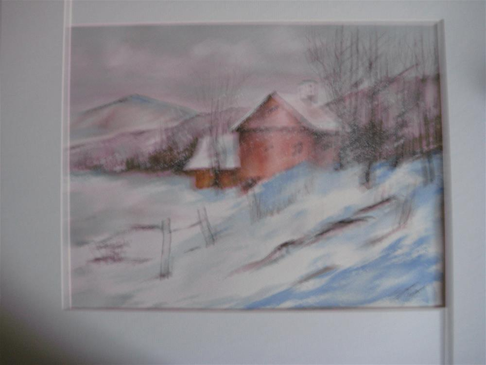 """Winter Barn"" original fine art by Susan Brens"