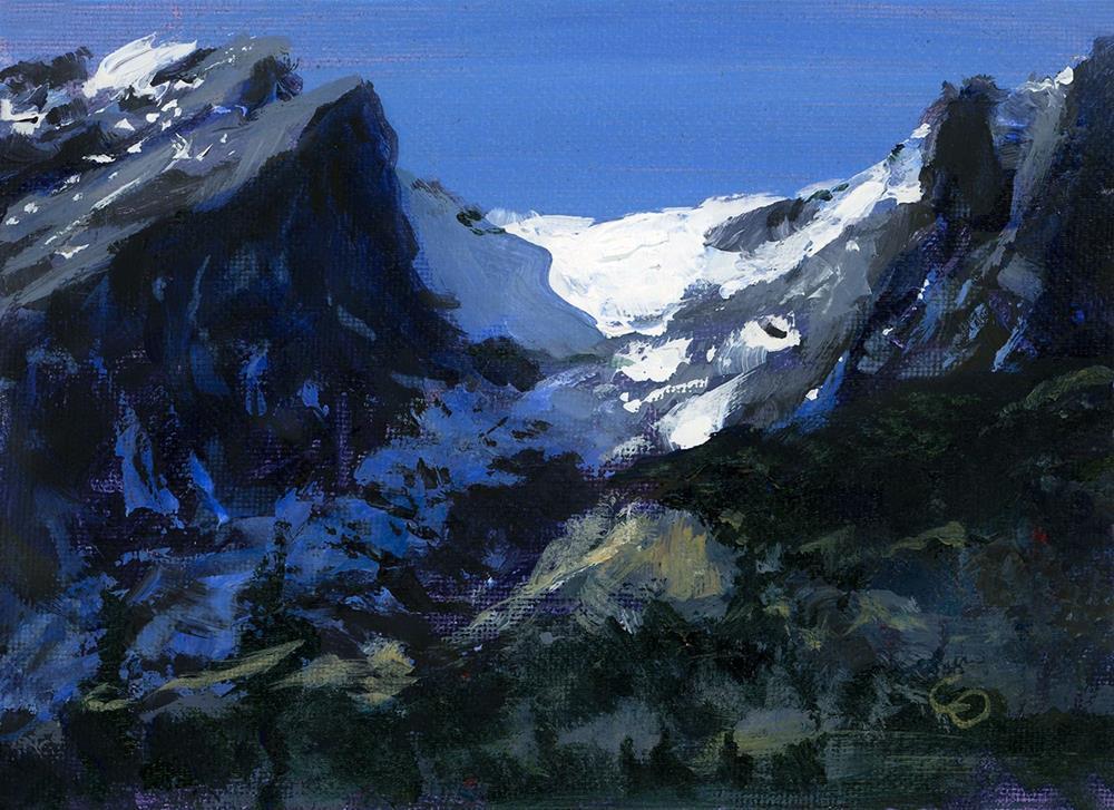 """Snowy Pass"" original fine art by Chris Ousley"