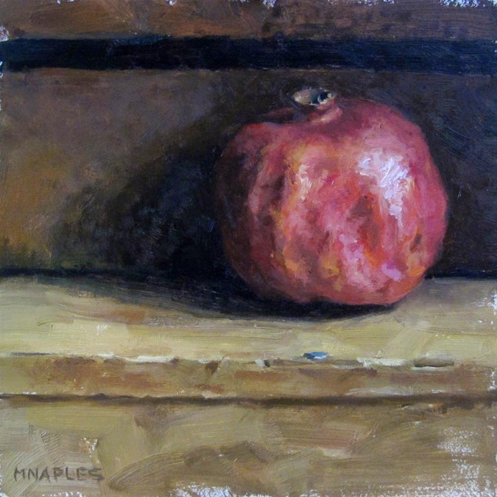 """Emerging Pomegranate"" original fine art by Michael Naples"