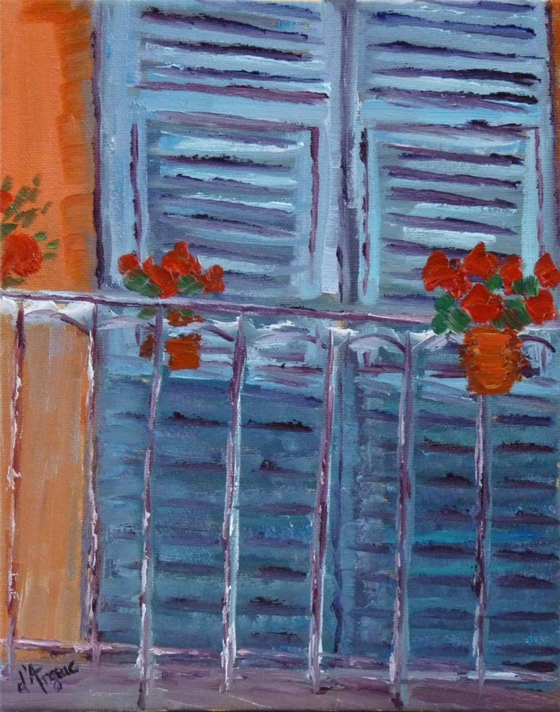 """French Balcony II"" original fine art by Karen D'angeac Mihm"
