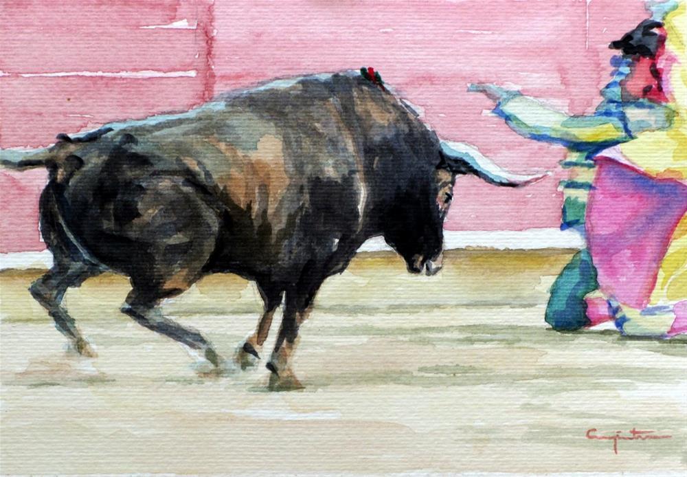 """""""Porta gayola"""" original fine art by Eduardo Carpintero"""