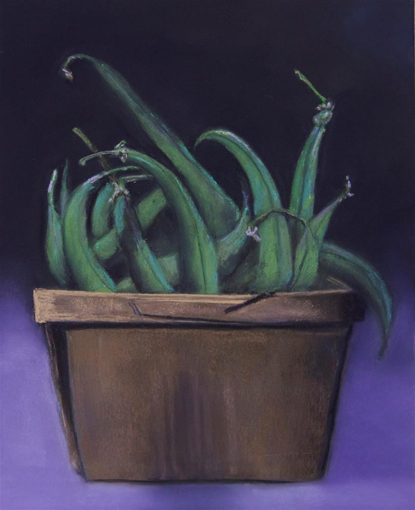 """Haricot Verts"" original fine art by Cristine Kossow"