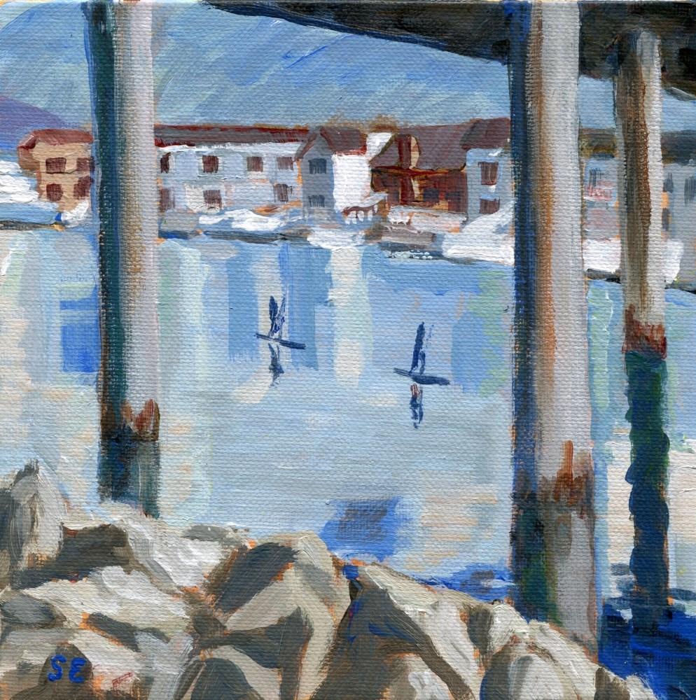 """Crossing Under #2"" original fine art by Stanley Epperson"