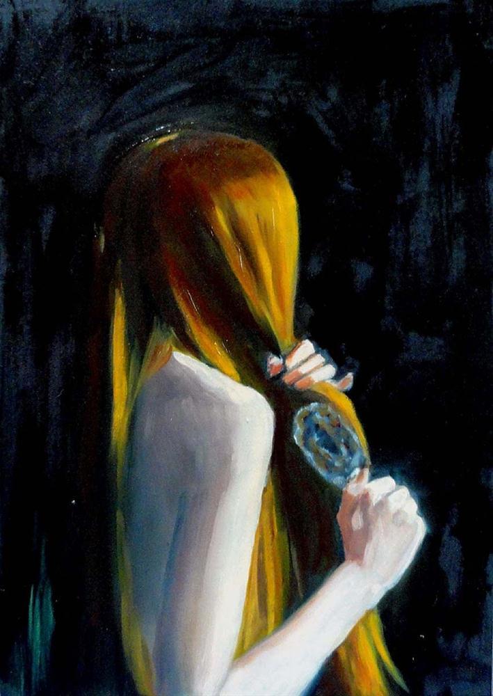 """""""Rapunzel"""" original fine art by Cietha Wilson"""