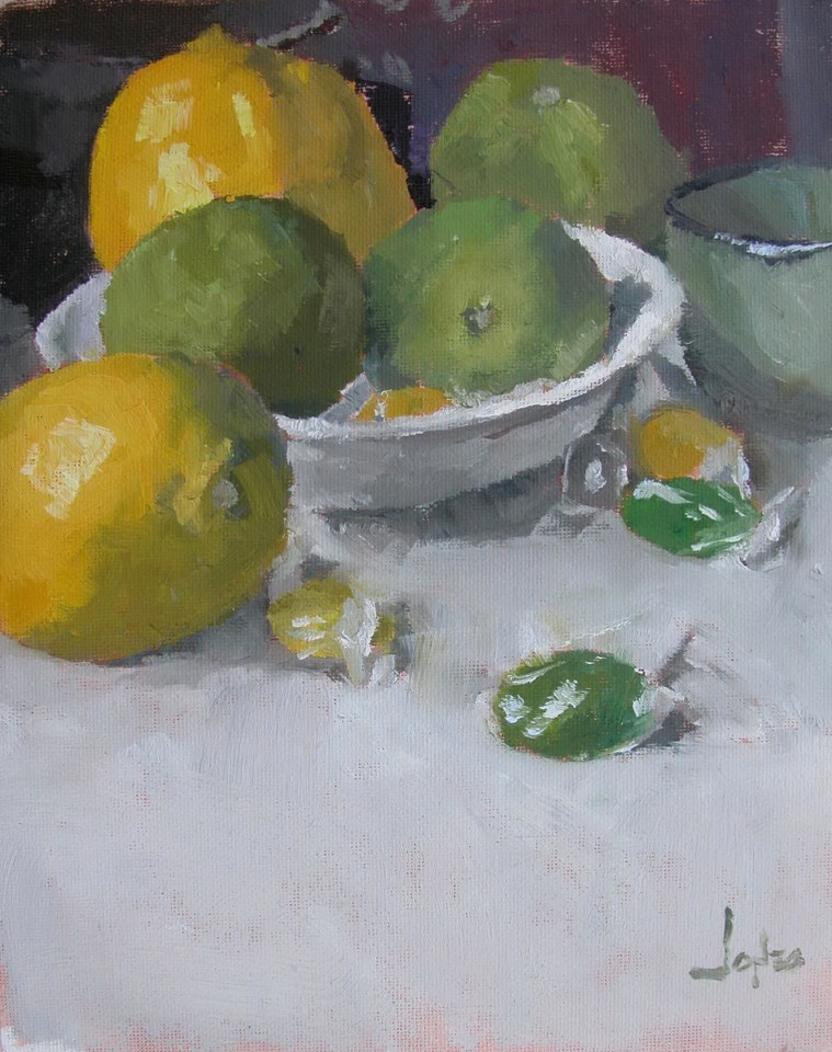 """Green and Yellow"" original fine art by Richard Jones"