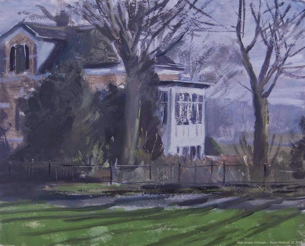 """My place. Ellecom The Netherlands"" original fine art by René PleinAir"