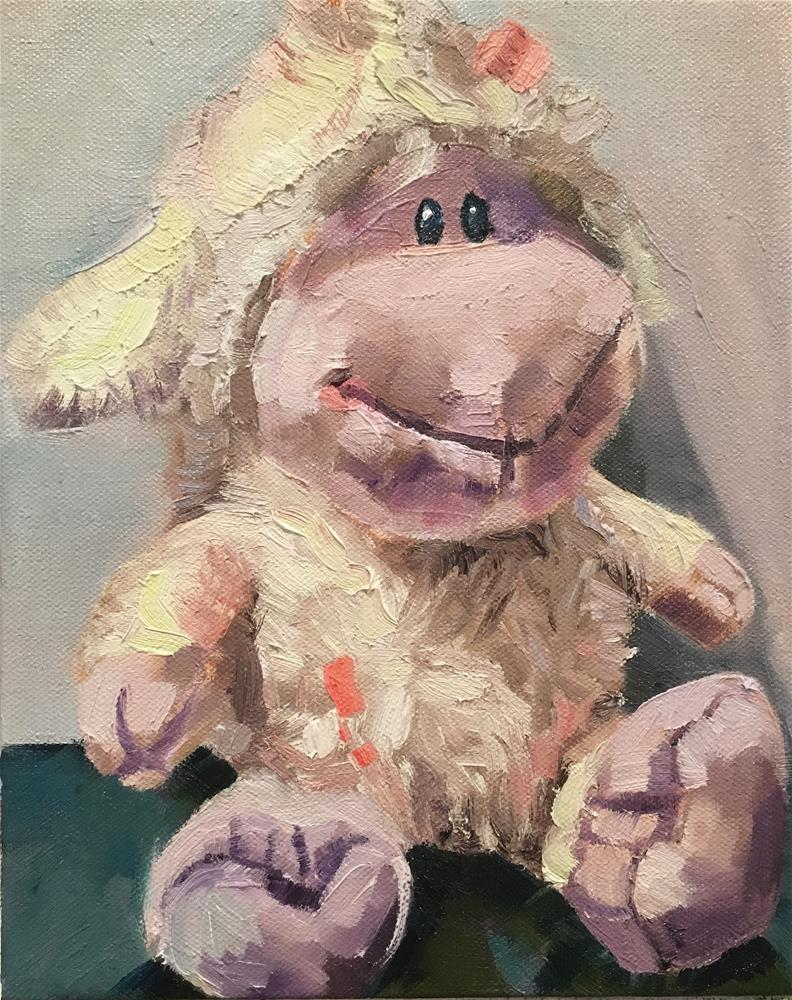 """Soft Toy: Sheep"" original fine art by Milda Vaitiekunaite"