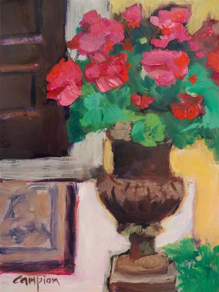 """""""651 Around the Block"""" original fine art by Diane Campion"""