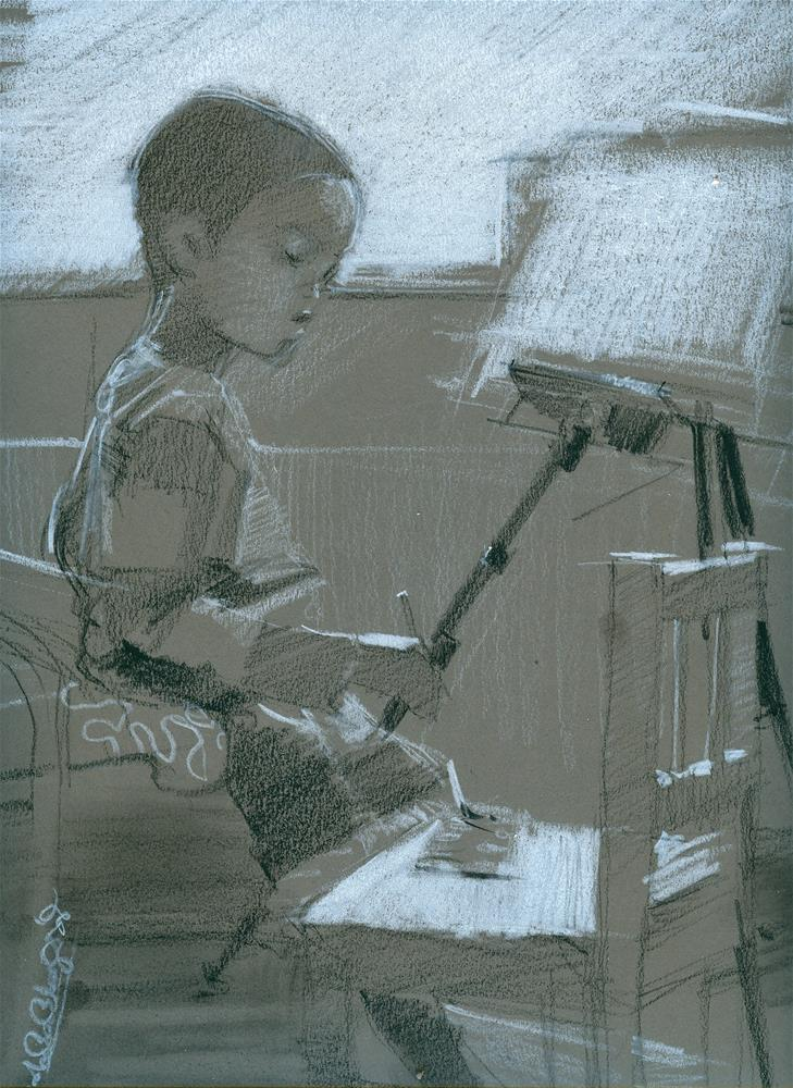 """Kids, Life, Art and stuff III"" original fine art by Adebanji Alade"