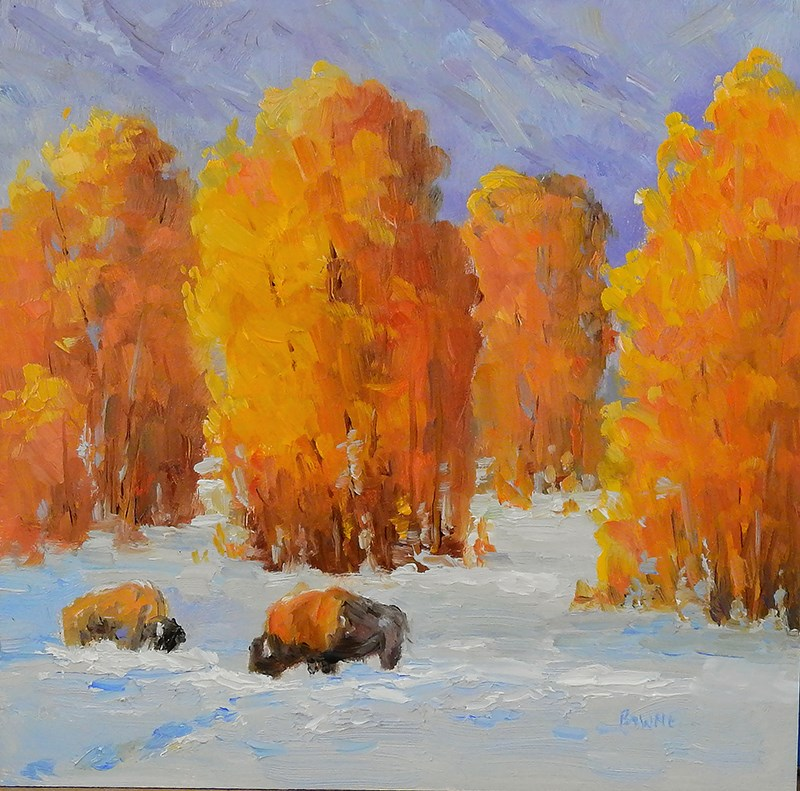 """Early Snow"" original fine art by Bonnie Bowne"