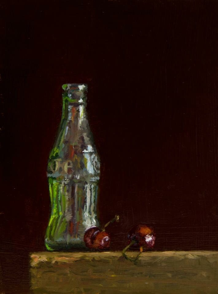 """Cherry Coke"" original fine art by Garry Kravit"