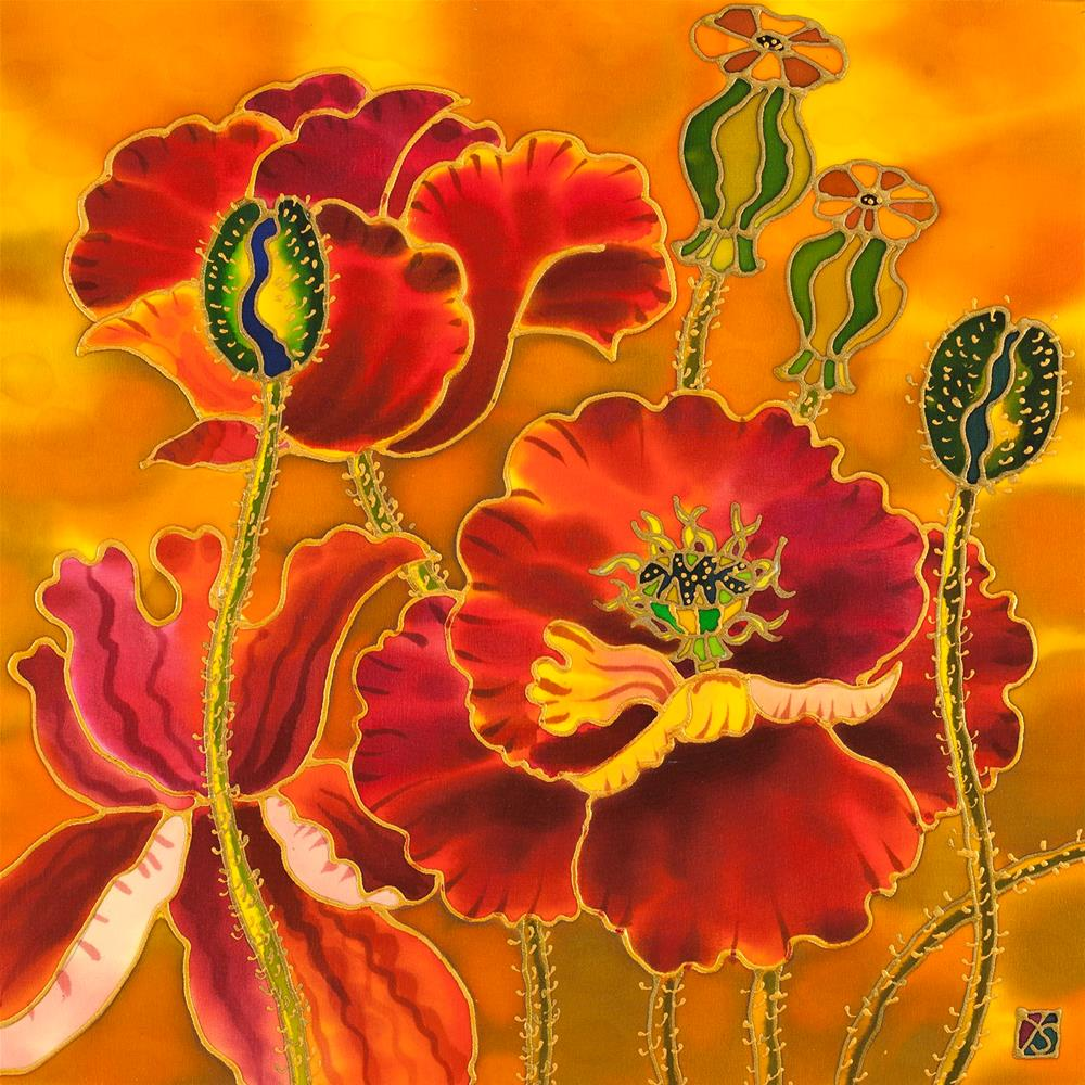 """Poppies"" original fine art by Yelena Sidorova"