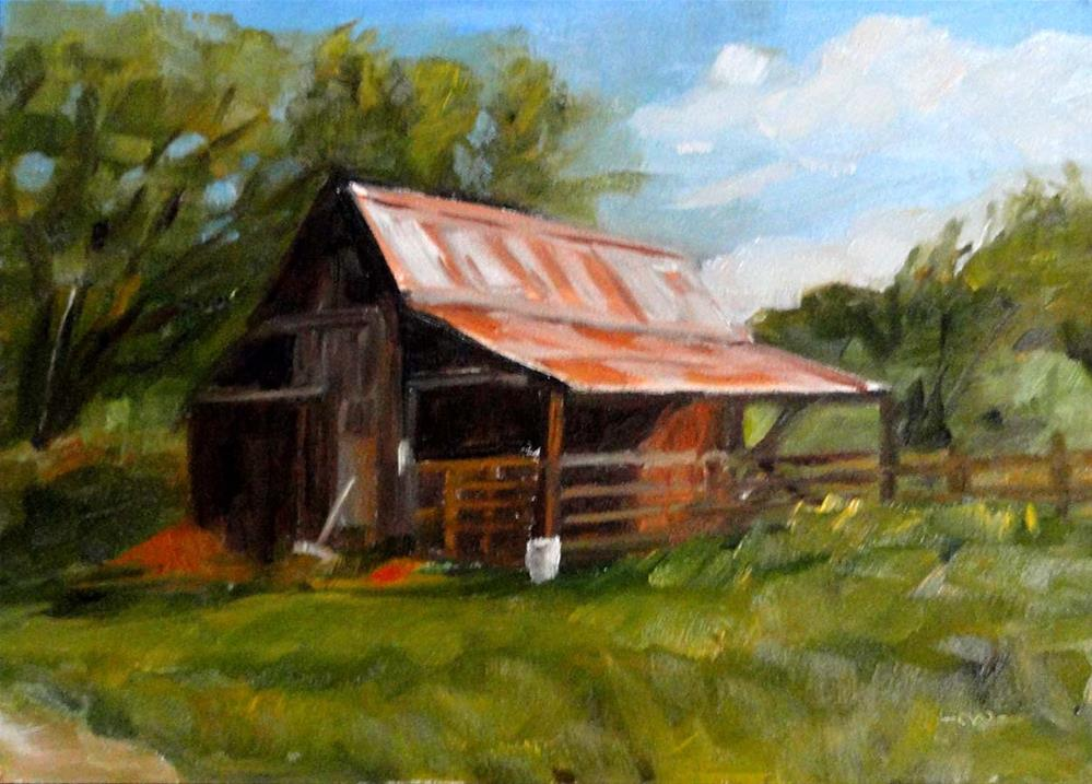 """Barn, Afternoon Sun"" original fine art by Cietha Wilson"