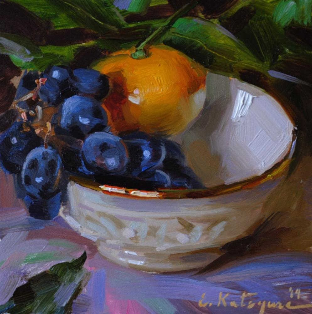 """Fruit Bowl"" original fine art by Elena Katsyura"