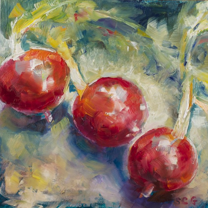 """Study of Radishes"" original fine art by Sue Churchgrant"