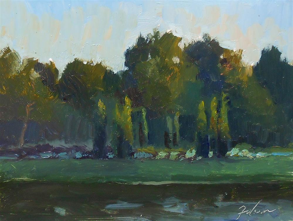 """""""Dawn on the Cypresses"""" original fine art by Kelli Folsom"""