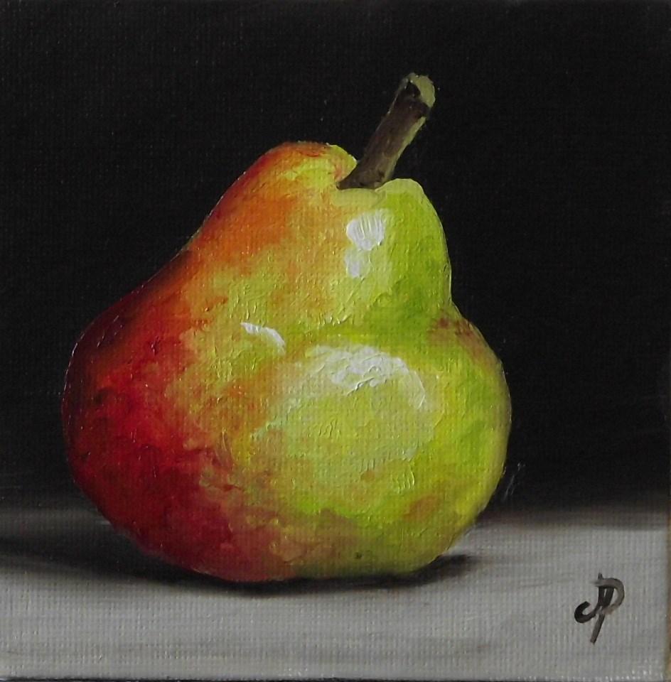 """Little Blush Pear"" original fine art by Jane Palmer"