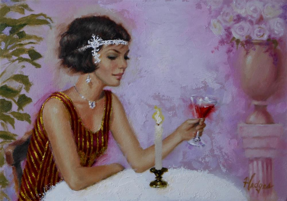 """Cocktail"" original fine art by Bruce Hedges"