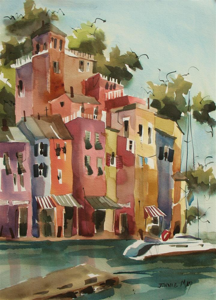 """Portofino, Italy"" original fine art by Jinnie May"