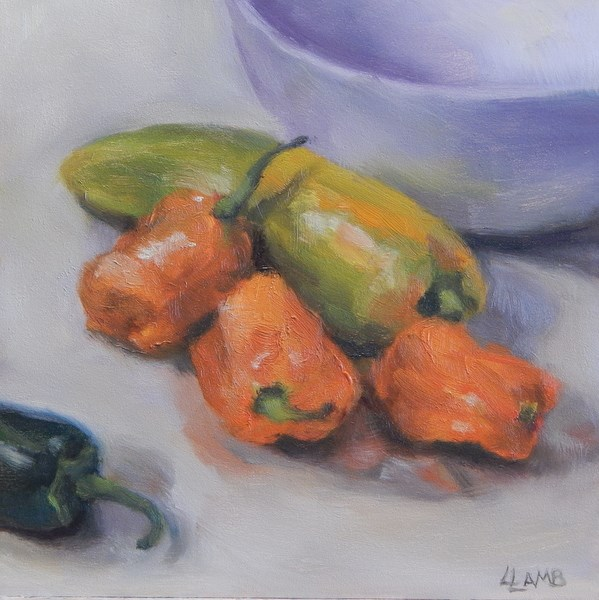 """Peppers"" original fine art by Lori L. Lamb"